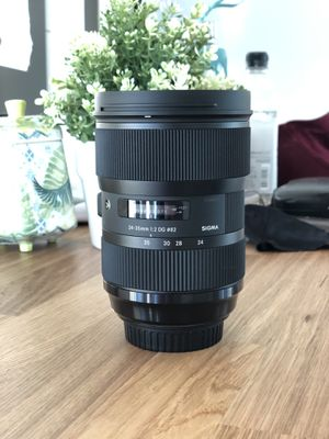 Sigma 24-35 f2 art canon EF for Sale in Boston, MA