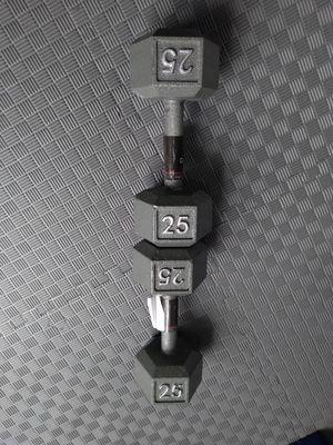 25lb dumbbells $100 set. for Sale in Portland, OR