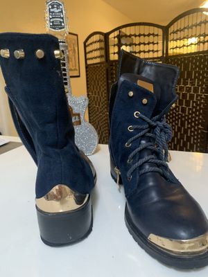 Rock Blue Metal studs boots/ botas tipo punk for Sale in Miami Beach, FL