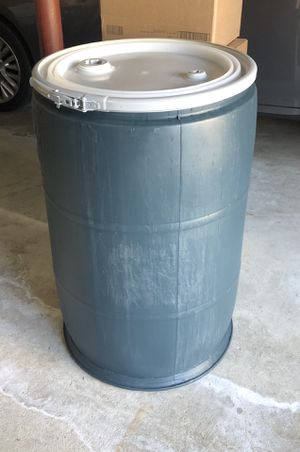 55 gallon Aqua Blue Storage Barrel Container Bin! Use for shipping, storage or as a cooler! BRAND NEW, MINT for Sale in Peabody, MA
