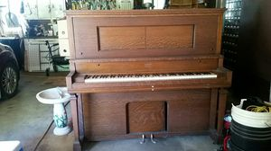 Beautiful tiger oak solid wood player piano made by AEOLIAN PIANOLA co. for Sale in Waterloo, IA