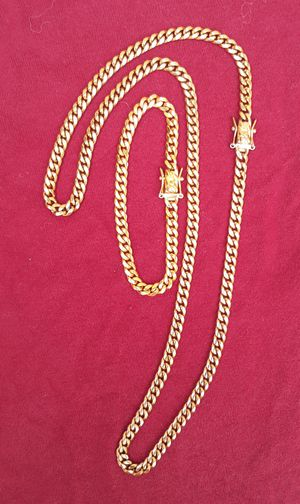 $80.....6mm.....🏌️🤳🏆🤩14k gold-plated cuban link chain and bracelet.... will not fade or tarnish.... I deliver 🚗💭💭 for Sale in Hollywood, FL