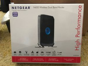 Netgear N600 wireless dual band router for Sale in Winston-Salem, NC