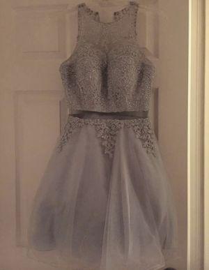 Prom/Homecoming/Elegant grey short dress for Sale in El Paso, TX