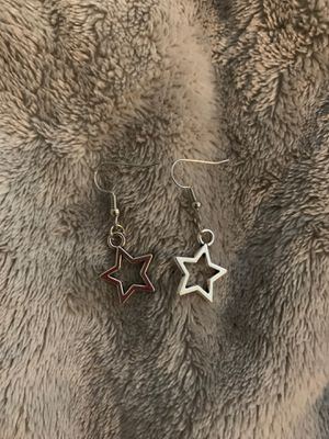 Silver star earrings for Sale in Brookeville, MD