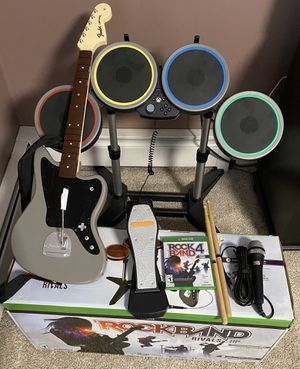 Rockband 4 Guitar & Drum Set - Limited Edition for Sale in Suffield, CT