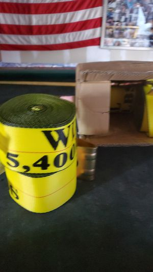 Winch strap for bobtail trailers with hook for Sale in Cypress, CA