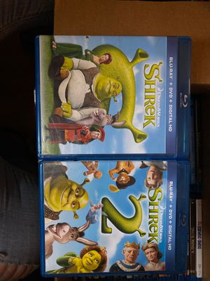 Shrek 1&2 blu ray for Sale in Croydon, PA