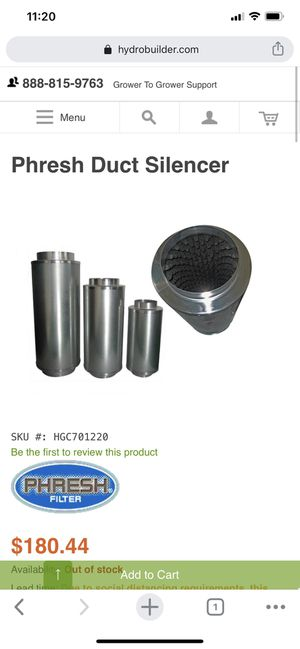 """Phresh Duct Silencer 12"""" x 36"""" for Sale in Fountain Valley, CA"""