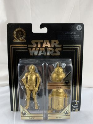 Disney Star Wars Gold Commemorative Edition Skywalker Saga C-3PO BB-8 R2-D2 NEW for Sale in Peoria, IL
