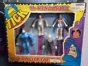 The Tick Fox Cartoon The Bendables 4-PC Figure Gordy Toy Gift Set for Sale in Long Beach, CA