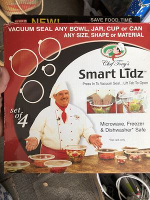 Smart Lids- Vacuum Seal any bowl, jar, cup, can for Sale in La Mesa, CA