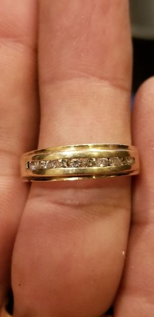 Mens beautiful 14kt gold diamond ring for Sale in South Gate, CA