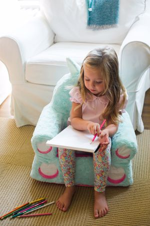 """Like NEW Super Clean Animal Sweet Seats UNICORN Toy Teal Plush Kid's Chair 22""""x26"""". for Sale in Austin, TX"""