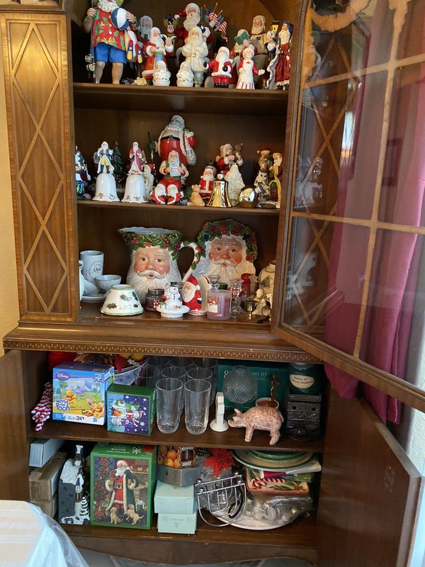 Antique Wood hand crafted china cabinet bring best offers