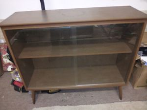 "Retro 36"" Glass Doors 2-Tier Free Standing Shelf for Sale in Tacoma, WA"