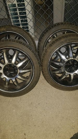 18 inches universal 4 lug and 5 lug rims for Sale in Desert Hot Springs, CA