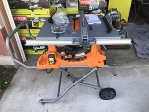 """Ridgid 10"""" Table Saw with Rolling Stand New ( See Photos ) for Sale in Ontario, CA"""