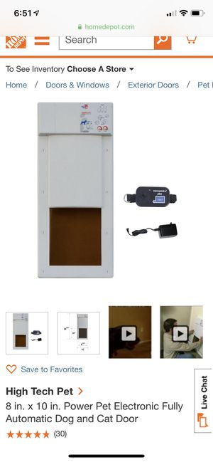 High Tech electronic pet door for Sale in Alexandria, VA