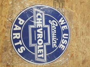 Huge chevy Chevrolet parts embossed metal sign for Sale in Vancouver, WA