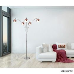 ARTIVA Amore 86 in. Rose Copper and Brushed Steel LED Arched Floor Lamp for Sale in Dallas,  TX