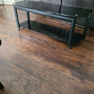 Black Glass TV stand for Sale in Tampa, FL