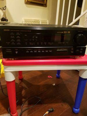 Denon AVR 1802/882 AV Sound Receiver ($70) and Denon DRW 585 STEREO CASSETTE TAPE PLAYER ($90) for Sale in Hawthorne, CA