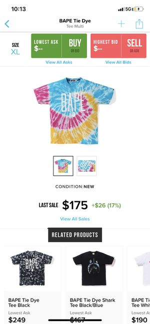 Bape shirt tie dye for Sale in Moreno Valley, CA