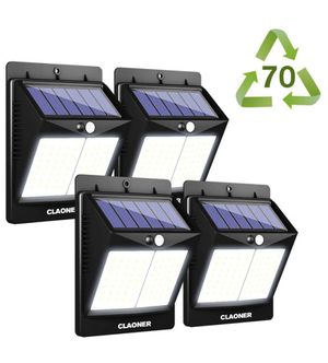 Solar Lights Outdoor, 70 LED Wireless Solar Motion Sensor Light with Brighter Wider Lighting Solar Powered Waterproof Security Light for Front Door, for Sale in Anaheim, CA