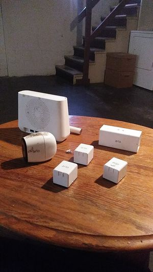 Arlo pro servalince system three batterys a camera .and base station for Sale in Seattle, WA
