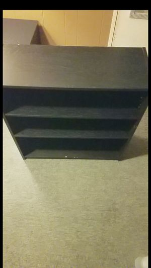 Tall black wooden Shelf for Sale in Lacey, WA