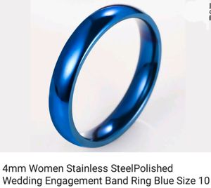 Blue Stainless steel ring for Sale in Saginaw, MI