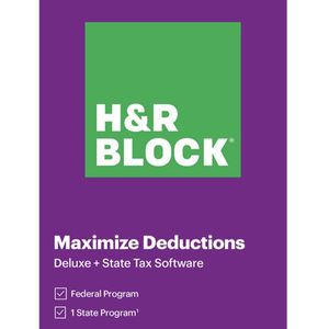 H&R BLOCK Tax Software Deluxe + State 2020 Windows for Sale in Gaithersburg, MD