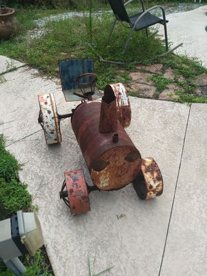 Rustic metal hand-made tractor and trailer for Sale in Saint Petersburg, FL