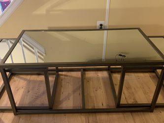 3 Piece Glass Coffee Table Set for Sale in Alexandria,  VA