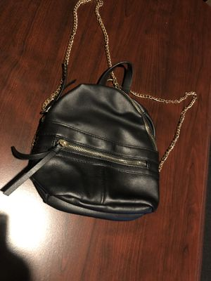 Purse / small backpack purse black gold chain for Sale in Philadelphia, PA