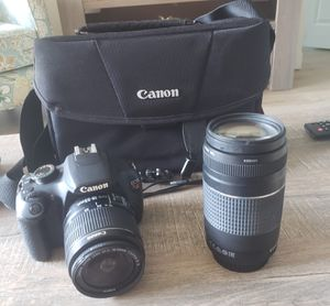 Canon Rebel T5 with extra lens for Sale in Tamarac, FL