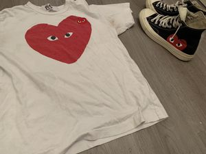 Cdg Shirt and Converse Deal for Sale in Lumberton, NJ