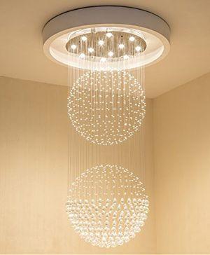 Modern Crystal Raindrop Chandelier Lighting Flush Mount LED for Dining Room, Bathroom, Bedroom, and Livingroom for Sale in Henderson, NV
