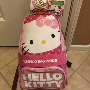 New Hello Kitty Sleeping Bag and Backpack for Sale in Menifee, CA