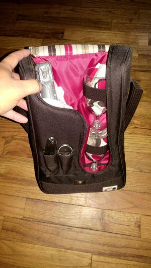 Wine glass and bottle carrier for Sale in Tacoma, WA