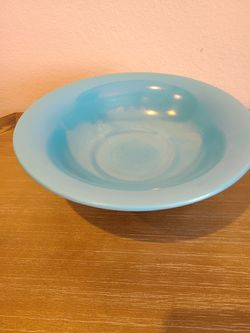 Vintage Fenton Blue Stretch Glass Bowl with Stand for Sale in Westfield,  IN