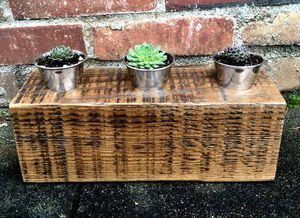 Reclaimed wood succulent holder and succulents to help our at-risk youth for Sale in Vancouver, WA
