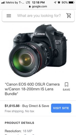 Canon 18-200mm IS camera for Sale in Long Beach, CA