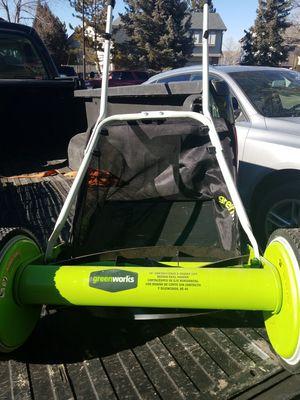 Greenworks 16-in Reel Lawn Mower for Sale in Westminster, CO