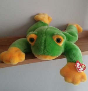 Large Ty Beanie Buddy Smoochy The Frog/Retired/Unused for Sale in MONTGOMRY VLG, MD