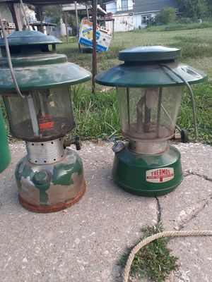 To Vintage lanterns 45 bucks for the pair very collectible and they still work pretty good for Sale in Wichita, KS