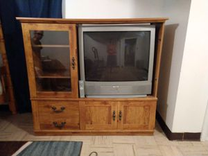 TV and TV stand for Sale in Ames, KS