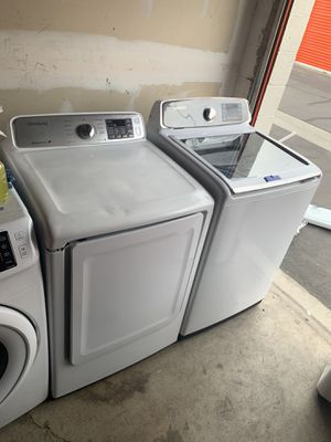 SAMSUNG ACTIVE WASH TOP LOAD WASHER & GAS DRYER SET for Sale in Corona, CA