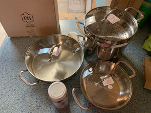 Princess house 3 piece stainless steel set for Sale in Sacramento, CA